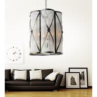 4 Light Chandelier with Antique Brass Finish