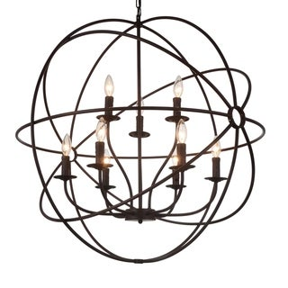 Link to The Gray Barn Ashgrove 9-light Globe Chandelier with Brown Finish Similar Items in Chandeliers