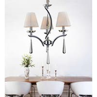 Stainless Steel Chrome-finished 3-light Teardrop Chandelier