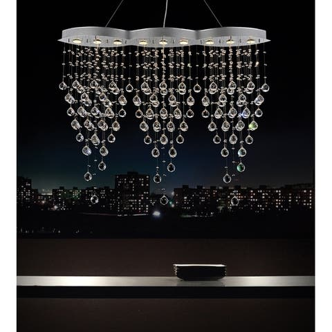 Silver Orchid Cook 9-light Crystal Chandelier with Chrome Finish
