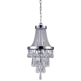 Link to Silver Orchid Kersten Chrome 3-light Beaded Crystal Chandelier Similar Items in Track Lighting