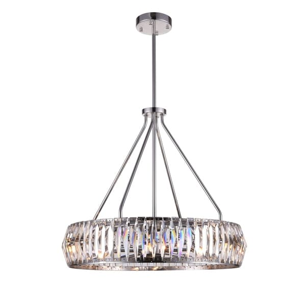 8 Light Chandelier With Bright Nickel Finish Free Shipping Today 22677299