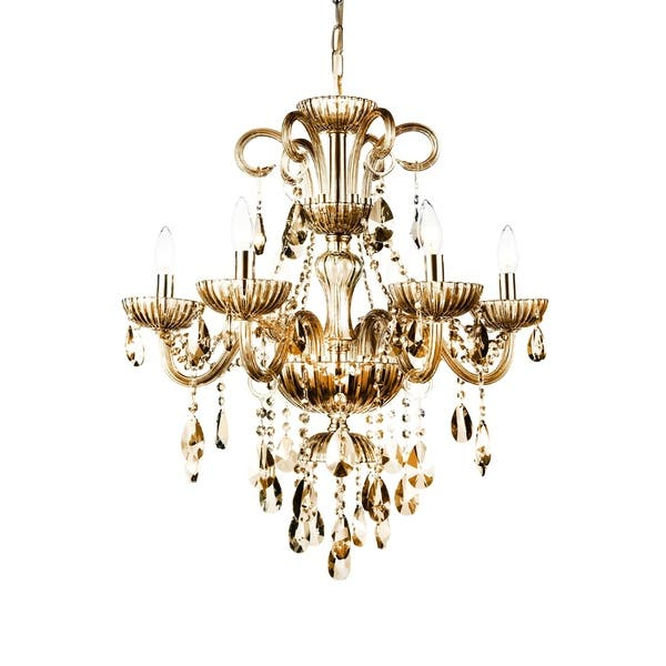 6 Light Chandelier With Chrome Finish