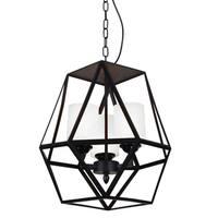 3 Light Mini Pendant with Black Finish