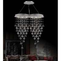 Chrome and Crystal 6-light Chandelier