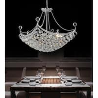 Chrome Steel 4-light Chandelier
