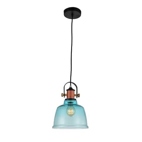 1 Light Mini Pendant with Blue Finish