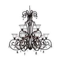 12 Light Chandelier with Dark Bronze Finish
