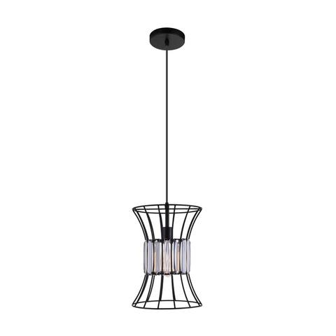 The Gray Barn Bracken Hill 1-light Black Mini Chandelier with Glass Accents