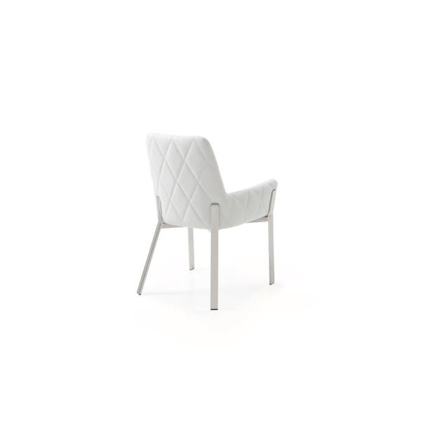 Surprising Shop Modrest Robin Modern White Bonded Leather Dining Chair Spiritservingveterans Wood Chair Design Ideas Spiritservingveteransorg