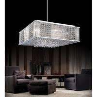 Chrome-finish Stainless Steel 12-light Chandelier