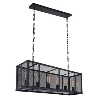 Link to Carbon Loft Poultney 6-light Linear Chandelier with Reddish Black Finish Similar Items in Outdoor Ceiling Lights