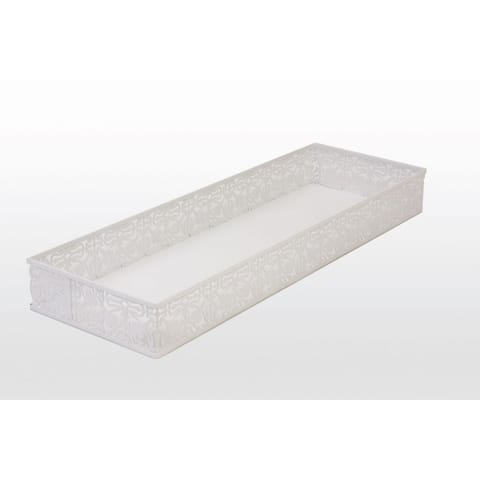 Large lace toilet tank tray