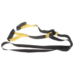 Resistance Bands Training Crossfit Suspension Trainer Strength Training Strap - black &yellow
