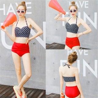 Vintage Retro Rockabilly High Waisted 50s Style Bikini Swimsuit Hot Sexy