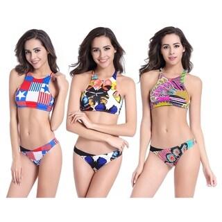 Women Sexy Summer Beach Bikinis Set Swimsuit Breathable Backless Beachwear