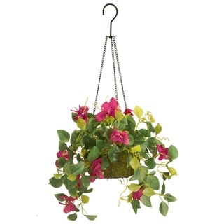 "Link to 9"" Bougainvillea Plant Hanging Basket Similar Items in Decorative Accessories"