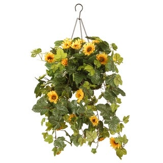"11"" Sunflower Hanging Basket"