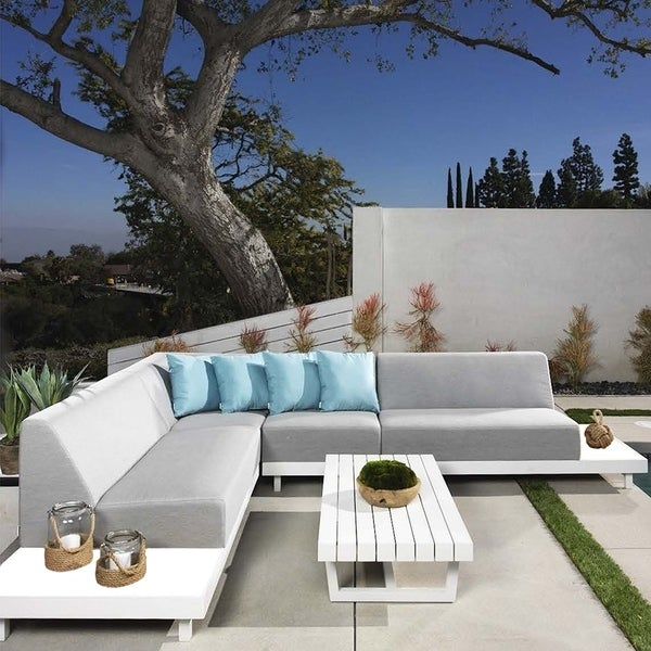 Shop Almory 6-Seat Set Medium Grey/W - Free Shipping Today ... on Safavieh Alda 4Pc Outdoor Set id=83699