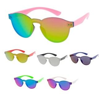 "MLC Minimal Urban Modern ""Horn-Tip"" Flat Lens Sunglasses"