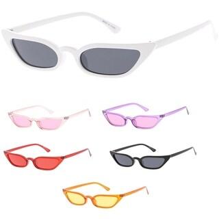 "MLC Urban Modern ""Kick-Back"" 90s Narrow Flat Lens Cat Eye Sunglasses"