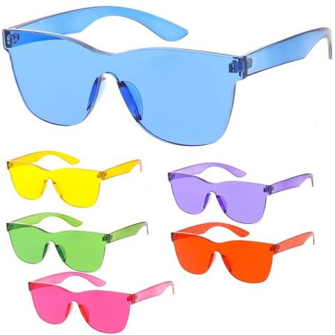 "MLC Urban Modern ""Rim"" Mono Block Rimless Sunglasses"