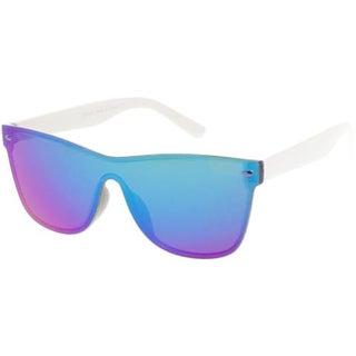 "MLC Minimal Urban Modern ""Way-2-Far"" Flat Lens Future Retro Sunglasses"