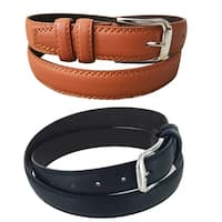 Men's Urban Collection Casual Business Single Prong Buckle Belt MS121