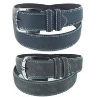 Men's Nocturnal Collection Casual Business Single Prong Buckle Belt