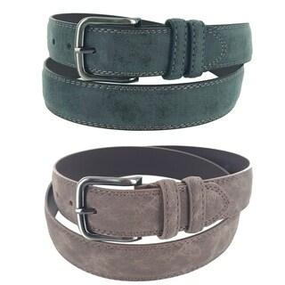 Men's Velvet Collection Casual Business Single Prong Buckle Belt