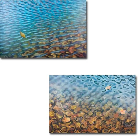 Millpond 1 & 2 by Jack Brumbaugh 2-piece Gallery Wrapped Canvas Giclee Art Set
