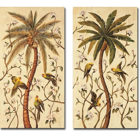 Tropical Panel I & II by Rodolfo Jimenez 2-piece Gallery Wrapped Canvas Giclee Art Set