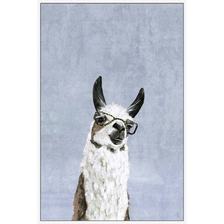 Marmont Hill - Handmade Cool Llama II Floater Framed Print on Canvas