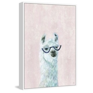 Marmont Hill - Handmade Posh Llama II Floater Framed Print on Canvas