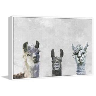 Marmont Hill - Handmade Llama Squad II Floater Framed Print on Canvas