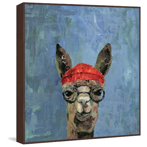 Marmont Hill - Handmade Hipster Llama Floater Framed Print on Canvas