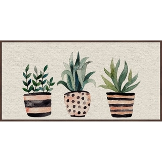 Marmont Hill - Handmade Three Plants II Floater Framed Print on Canvas