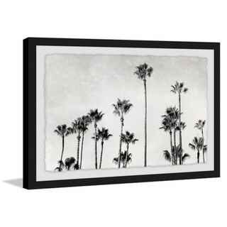'Palm Trees in CA' Framed Painting Print - Multi-color