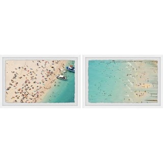 Marmont Hill - Handmade Aerial Beach Views Diptych