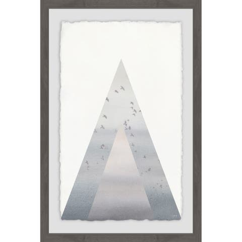 Marmont Hill - Handmade Triangle of Birds Framed Print