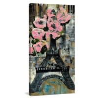 Paris Glam' Printing Print on Wrapped Canvas - Multi-color