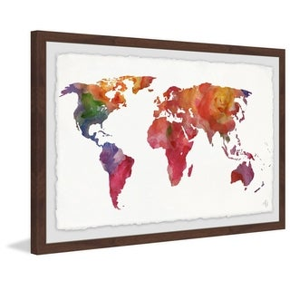 Marmont Hill - Handmade Colored Map Framed Print