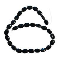 Oval Black Onyx Beads