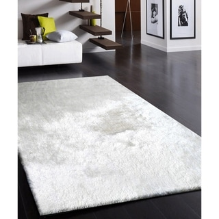 """Fancy Shaggy"" Hand Tufted Area Rug (8-ft x 11-ft) - 8' X 11'"