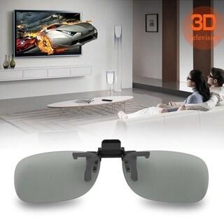 Clip On Passive Circular Polarized 3D Glasses Clip for LG 3D TV Cinema Film