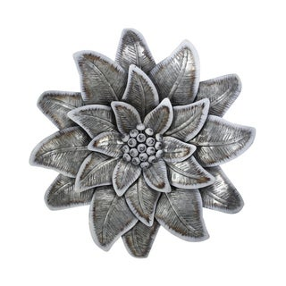 Cheung's Handmade Galvanized Metal Wall Flower with Buds - Gray