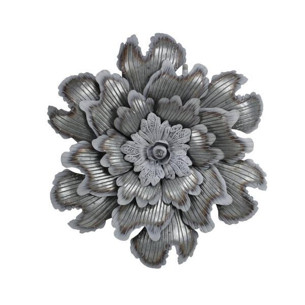 Cheung S Galvanized Metal Flower Wall Decor