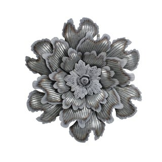 Cheung's Galvanized Metal Flower Wall Decor