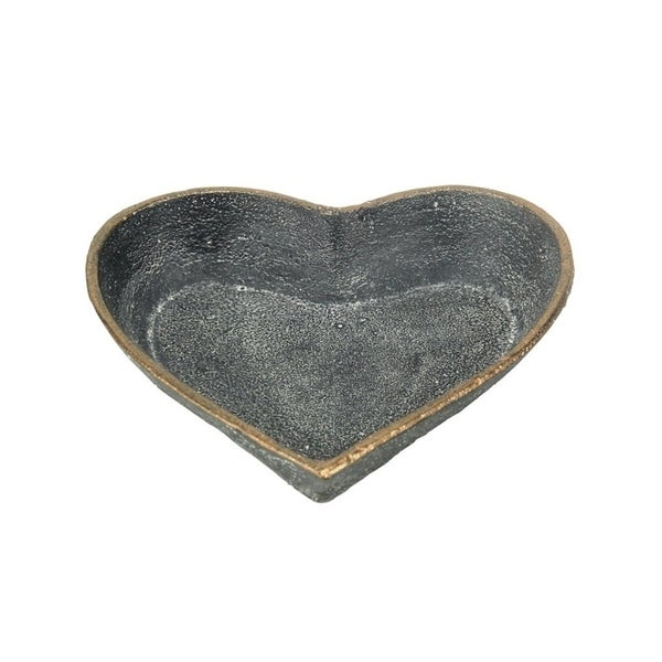 Cheung's Handmade Distressed Cast Iron Table Decor - Hearts