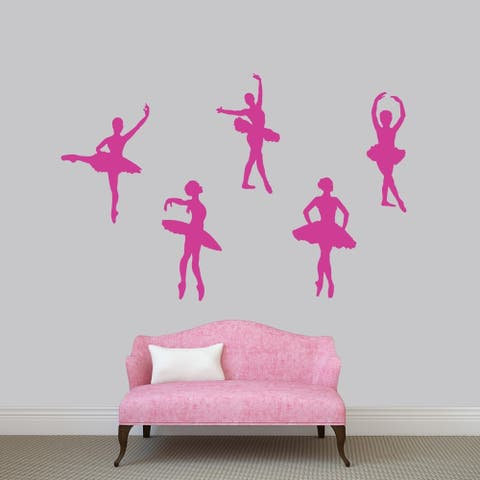 Set of Ballerinas Wall Decal Pack - MEDIUM